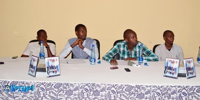 Les membres du groupe Redemption Voice lors de la conférence de presse.©Akeza.net