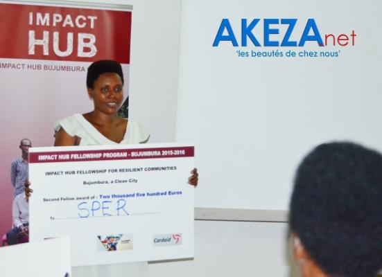 Zala Nduwimana et son entreprise SPER , 2è place ©Akeza.net