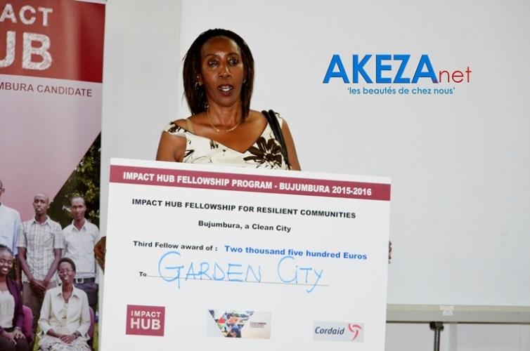 Dora Karani et son entreprise Garden City , 3è place ©Akeza.net