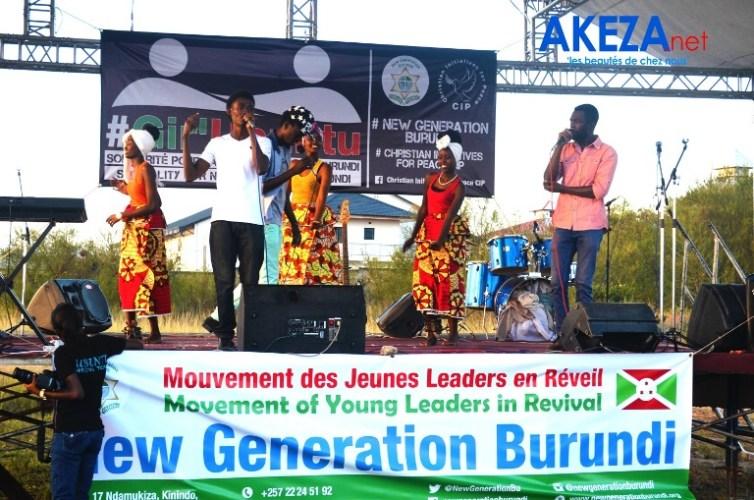 Un groupe participant au concours de chansons ©Akeza.net