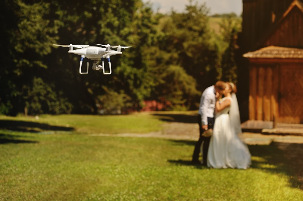 wedding videographer drone