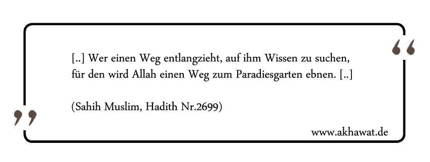 Weg zum Wissen Hadith