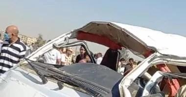 مصرع 7 أشخاص من أسرة واحدة فى حادث تصادم بالشرقية