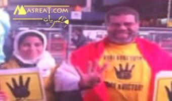 شقيق احمد شوبير يرفع شعار رابعة