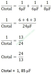 cara menghitung nilai kapasitor