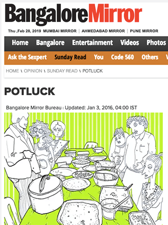 Collaborative Fiction in Bangalore Mirror