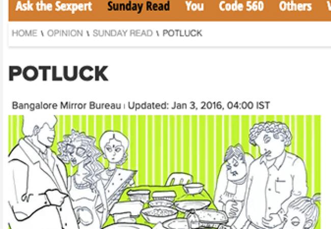 Collaborative Fiction in Bangalore Mirror