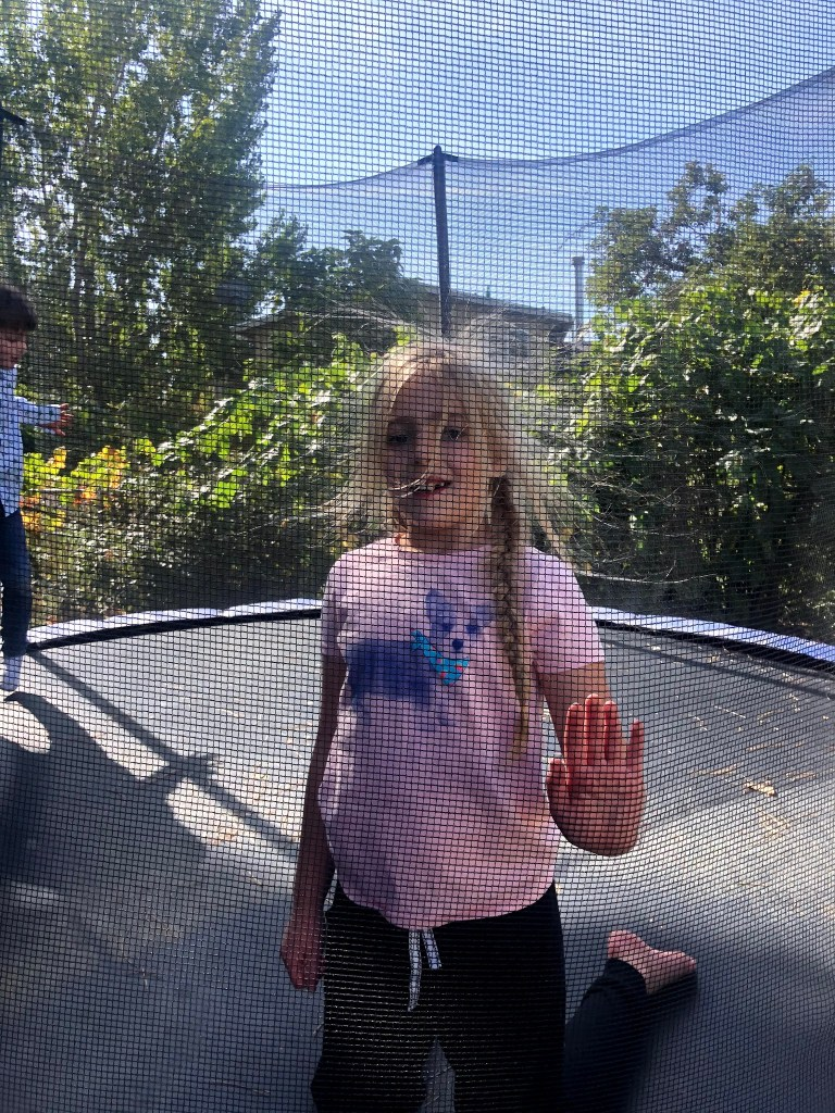 Trampoline: Front Flips and Static Hair