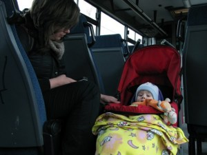 乳児冬のお出かけ