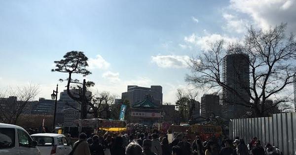上野公園桜開花2016屋台