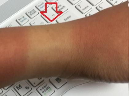 腕時計の日焼け