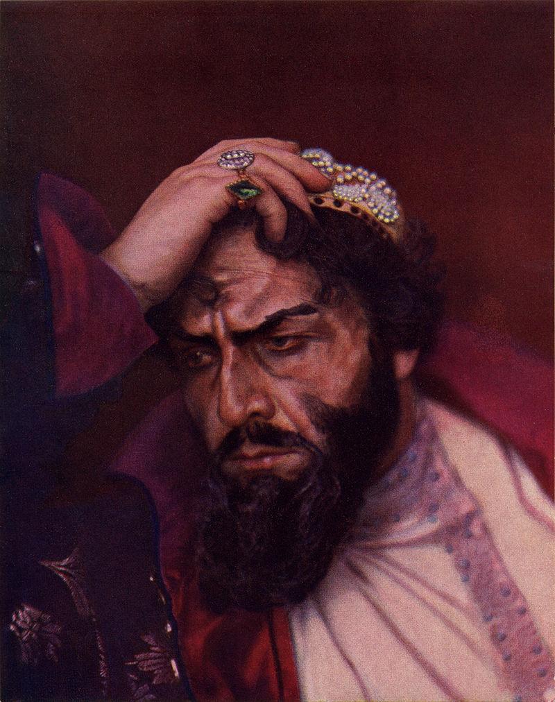 頭を抱えるボリス・ゴドゥノフ。彼は7年間ロシアを統治したが、その治世は混乱を極めた