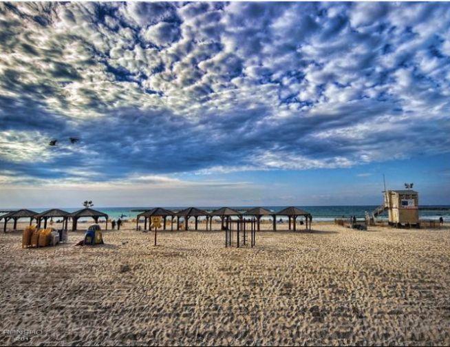 Tel Aviv tengerpart