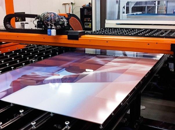 Egy Dip Tech digitális üveg nyomtató