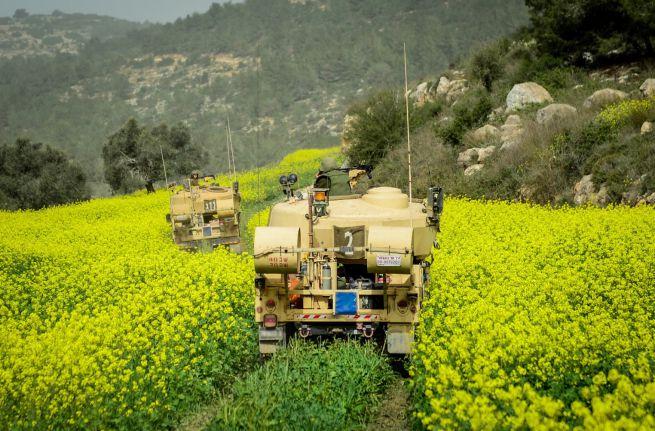 IDF tankok Észak-Izraelben