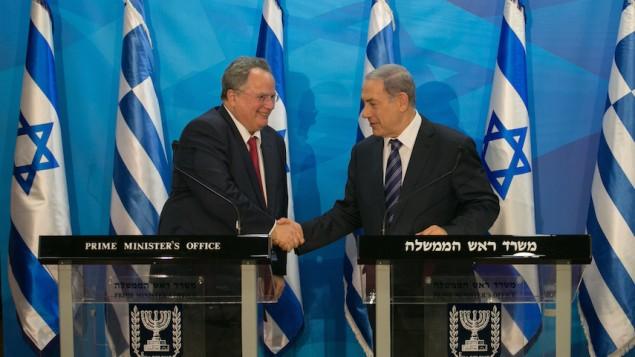 Nikosz Kociasz és Benjamin Netanjahu