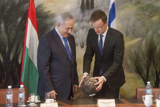Benjamin Netanyahu és Szijjártó Péter