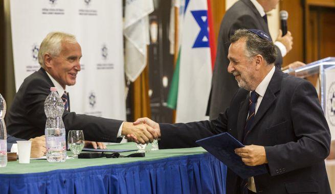 Mikola István és Heisler András a WZO konferenciáján