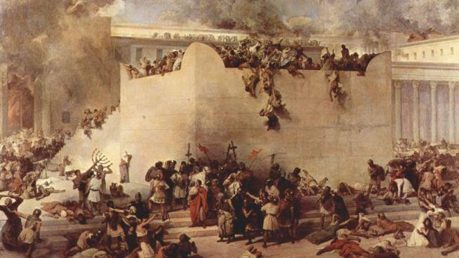 A jeruzsálemi szentély pusztulása egy 1867-ben készült festményen