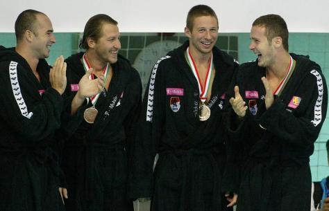 2006-ban a Szentkirályi Ásványvíz Magyar Kupa döntőjén Fodor Rajmund, Kovács Olivér és Szivós Márton társaságában / Fotó: RAS Archivum