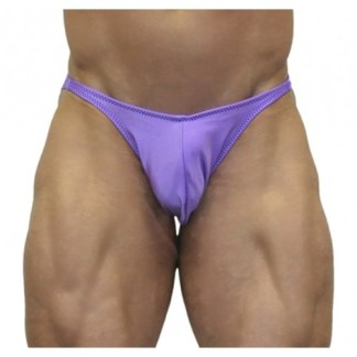 Akieistro® Men's Professional Bodybuilding Posing Suit - Solid Lilac - Front View