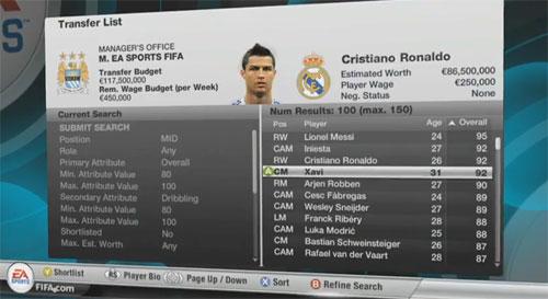 FIFA 12: Modo carrera y traspasos