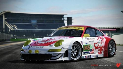 Porsche #45 Flying Lizard 911 GT3-RSR
