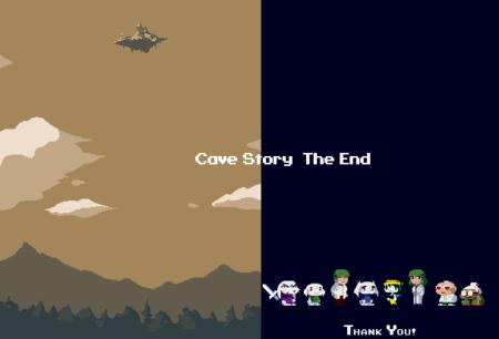 Pantalla final de Cave Story+