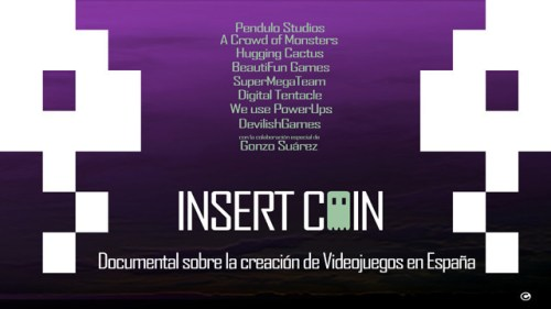 Cartel del documental Insert Coin