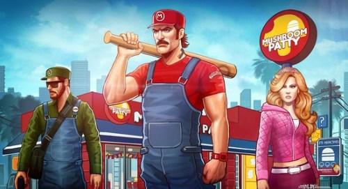 Arte de Amirul Hafiz inspirado en Super Mario