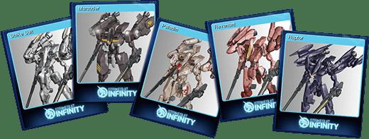 Cromos de Strike Suit Infinity