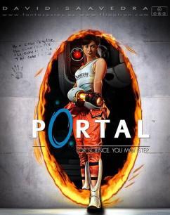 Brutal cartel de Portal por David Saavedra