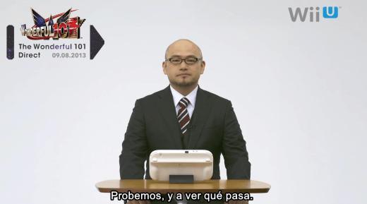 Hideki Kamiya presentando The Wonderful 101