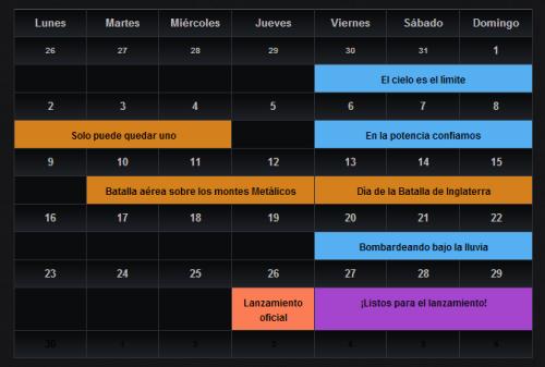 WOWarplanes calendario septiembre