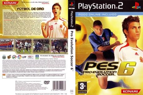 Portada PES 6 PS2