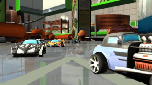 Deportivos con coches más clásicos... ¡se nota que son de juguete!