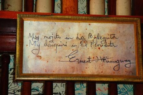 Cita de Hemingway