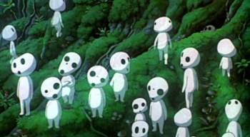Espíritus del bosque en La Princesa Mononoke