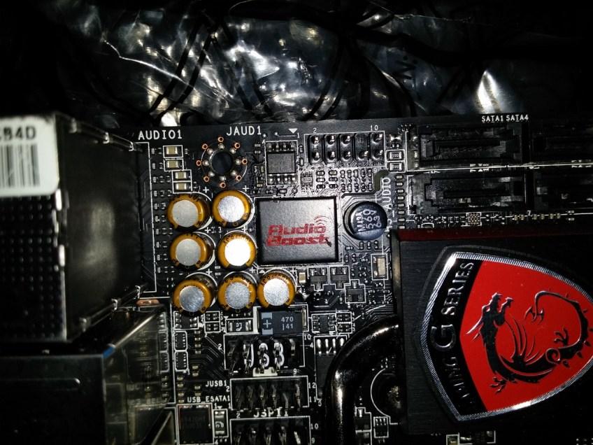 MSI z97i gaming ac audio