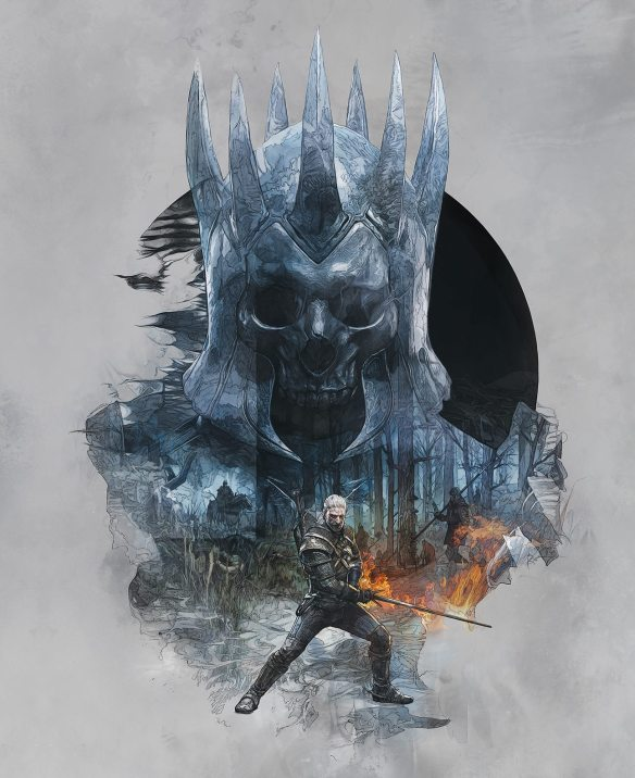 The Witcher 3 portada Skellige trasera