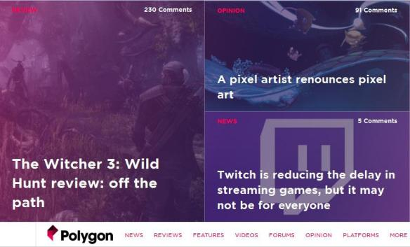 Witcher 3 en Polygon