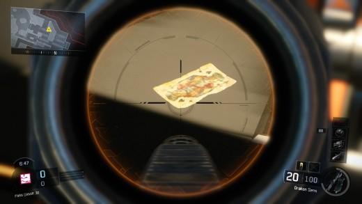 Esta carta se encuentra en el mapa Gauntlet en el hueco donde supuestamente debería ir la armadura del décimo especialista sin confirmar.