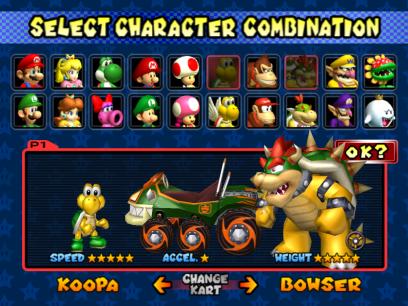 Character-Select-Mario-Kart-Double-Dash