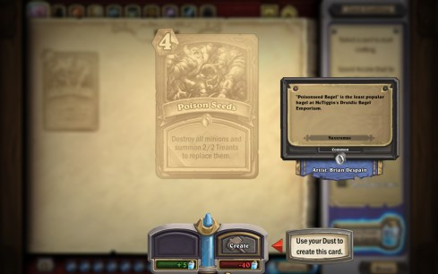 HearthStone Heroes Of Warcraft crear cartas de aventuras