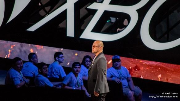 Hideki Kamiya presentando Scalebound en la conferencia de Microsoft