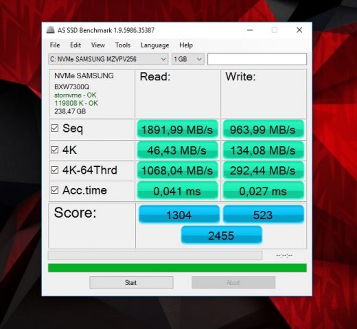 predator 17x as ssd