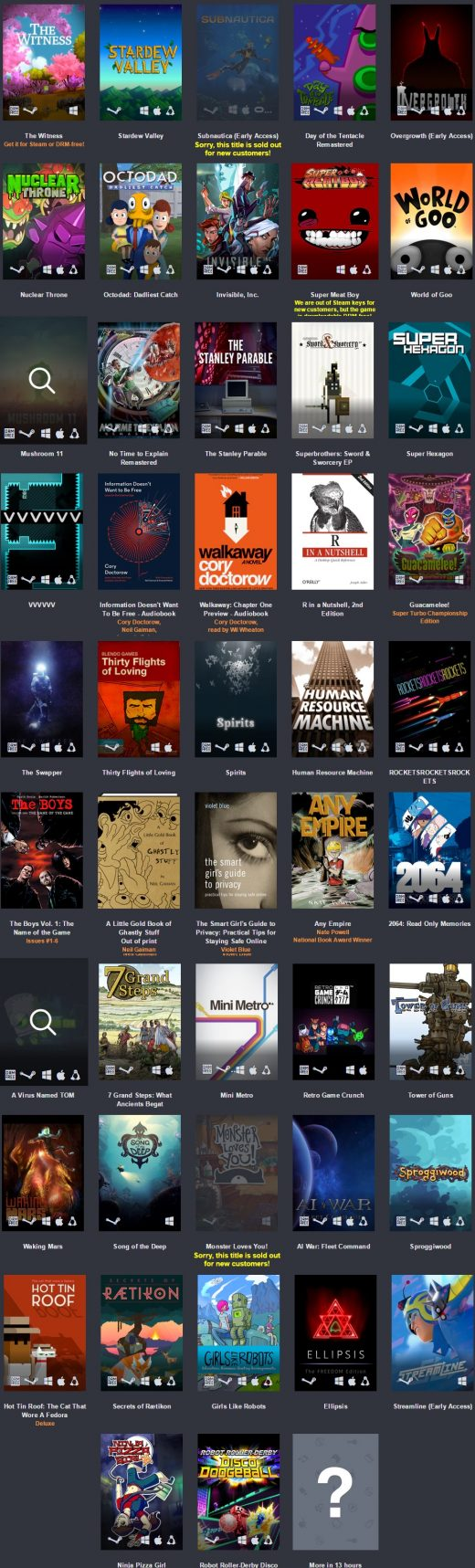 humble bundle freedom juegos