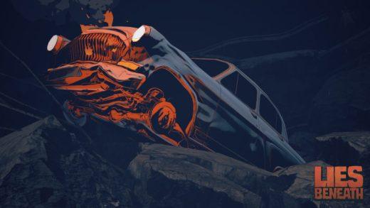 Imagen promocional con un coche accidentado