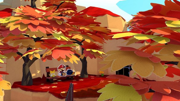 Bosque caducifolio en Paper Mario: The Origami King