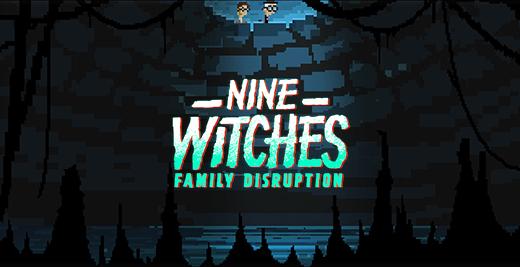 Captura y logo de Nine Witches Family Disruption